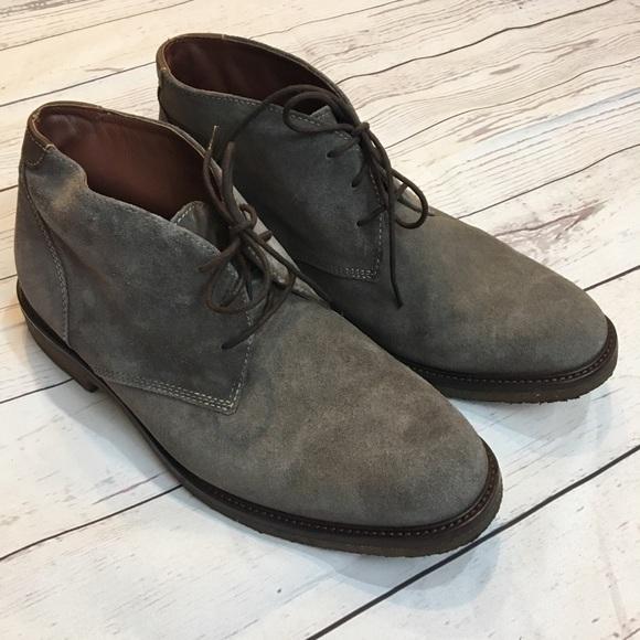 d45f2109163 JOHNSTON & MURPHY Gray Suede Copeland Chukka Boots